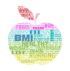 bmi chart apple text 230